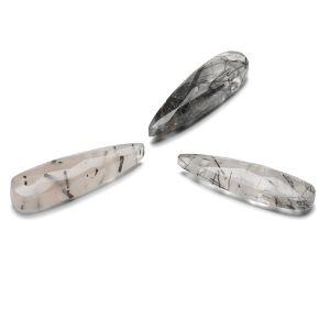ARROW Black Rutile 30 MM GAVBARI, semi-precious stone