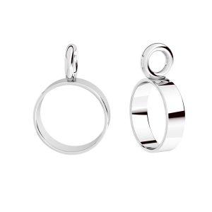 Decorative element for hanging, sterling silver 925, EL 6,3x2 mm