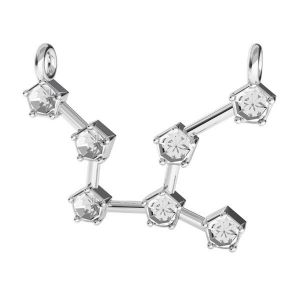 Virgo zodiac pendant crystals base*sterling silver 925*ODL-00654 16,1x23,5 mm