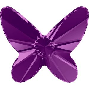 2854 MM 8,0 AMETHYST F - Butterfly Flat Back