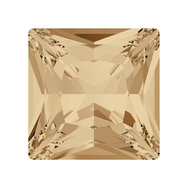4447 MM 10,0 CRYSTAL GOLDEN SHADOW (GSHA) F, Princess Square Fancy Stone